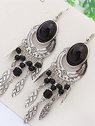 Bohemian Fashion Beads Oval Earrings