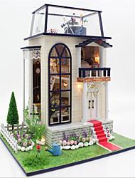 Jeu de Rôle Maison de Poupées Maquette & Jeu de Construction Château Maison Bois Blanc