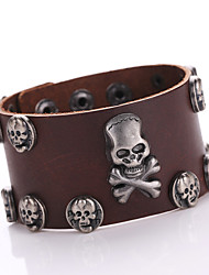 Fashion Hot Metal Ghost Leather Bracelet Retro Men's Bracelet Wholesale