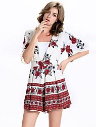 Damen Hose - Einfach Kurze Hose Leinen / Polyester Unelastisch