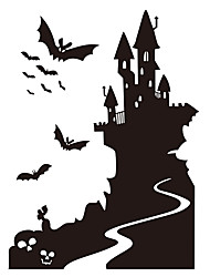 aw9423 Halloween Plane Wall Stickers Decorative Wall Stickers,VINYL    Removable Home Decoration Bat Wall Decal