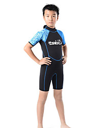 SLINX® Kid's 3mm Wetsuits Shorty Wetsuits Thermal / Warm Ultraviolet Resistant Compression Full Body Tactel Diving Suit Short Sleeve
