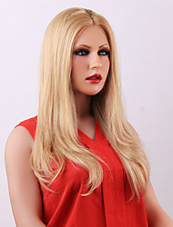 Fabulous Attractive Long Straight Blonde Lace Front  Human Hair