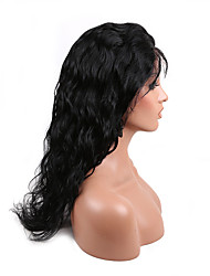 EVAWIGS  Human Virgin Hair Natural Black Body Wave Full Lace Wig With Baby Hair