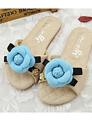 Girl's Summer Comfort / Slippers / Sandals PU Casual Pink / White