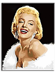 Hand Painted Oil Painting art movie poster -Marilyn Monroe with Stretched Frame Ready to Hang
