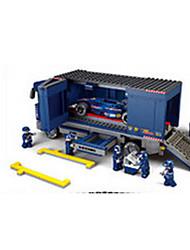 Blue racing truck