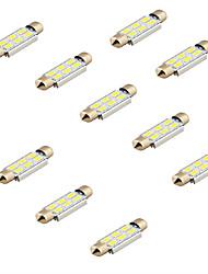 youoklight® 10pcs feston 42mm 3w 240lm 6 x smd 5630 LED blanche voiture légère de décodage lampe de lecture dôme bul (12v)