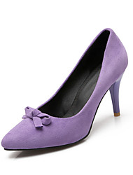 Women's Shoes Fleece / Leatherette Stiletto Heel Heels Heels Wedding / Party & Evening / Dress Black / Pink / Purple /