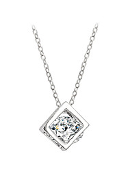Women's Couple's Pendant Necklaces Crystal Crystal Cubic Zirconia Alloy Fashion Adorable Birthstones Silver Golden JewelryWedding Party