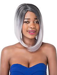 vogue européen court mélange blanc foncé u partie perruque de partie droite sythetic pour les femmes