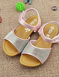 Girl's Sandals Summer Comfort Glitter Casual Pink Silver