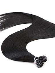 jet neitsi noir kératine droite i pointe bâton remy extension de cheveux 25g pré-liée / lot