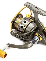 Molinetes Rotativos 5.5/1 10 Rolamentos Trocável Isco de Arremesso / Pesca Geral-JC5000 Daxinuo