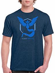 Cartoon Game Spirit Men  Wear T Shirt-Blue