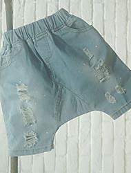 Boy's Solid Jeans,Cotton Summer Blue