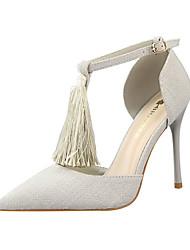Women's Heels Summer Heels Fleece Casual Stiletto Heel Tassel Black / Blue / Red / Gray / Khaki Others