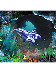 JAMMORY 3D Wallpaper Contemporary Wall Covering , Canvas Material Adhesive required Mural , Deep Sea World