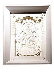 nous branchons papier créatif conduit sculpture 3d décoratif sakyamuni de lumière de nuit de noël