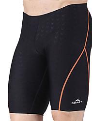 Bottoms Swimwear(Preto) -Homens-Respirável / Compressão / Materiais Leves
