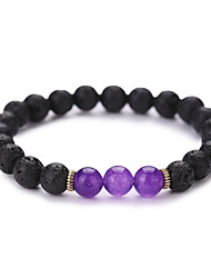 Women Men Fashion Bracelet Volcano And Natural Stone Bracelet #YMGS1002