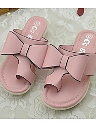Girl's Slippers & Flip-Flops Summer Comfort PU Casual Pink White