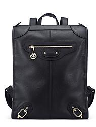 Stiya Fashion Multifunction Large Capacity Top Grade Genuine Leather Lady Vintage Backpack