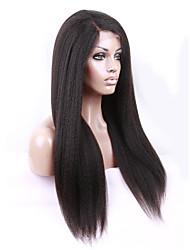 Unprocessed Virgin Brazilian Afro Kinky Straight Left Part Wig Human Hair Glueless Full Lace Wigs