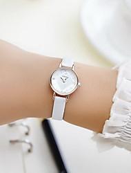 Couple's Dress Watch Fashion Watch Casual Watch Imitation Diamond Quartz PU Band Black White Red Brown