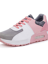 Women's Shoes Faux Suede Breathable Comfort Sneakers Outdoor / Athletic / Casual Wedge Heel Split Joint / Lace-up