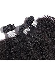 Mongolian Afro Kinky Curly Hair Human Hair Weaves 12-20invh Kinky Curly Virgin Hair Bundles 3PCS Very Soft