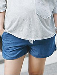 Maternity Street chic Shorts Pants,Cotton Stretchy