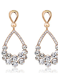 White Exqusite Quality Silver AAA Zircon Crystal Drop Earrings for Lady Wedding Party