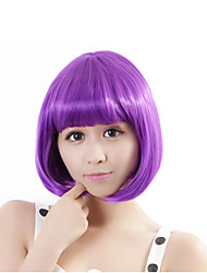 "Neitsi 100% Kanekalon Fiber 14""(35cm) 160g/pc Women's Girl's Cosplay Short Synthetic BOB Hair Wigs B.Purple"