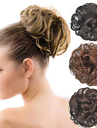 rizado de novia updo moño del bollo esponjoso sintéticos piezas extensiones del pelo para las mujeres negras más colores