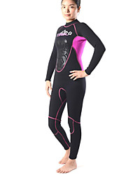 Autres Femme Combinaisons Tenue de plongée Compression Costumes humides 2.5 à 2.9 mm Bleu XS / S / M / L / XL Plongée