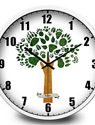 Simple Fresh Bedroom Kitchen Living Room Wall Clock Trees Mute Electronic Quartz Wall Clock