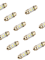 youoklight® 10pcs feston 36mm 2w 100lm 3-SMD5050 6000k lumière blanche lampe led voiture lecture (12v)