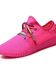 Corsa Da donna-Sneakers-Tempo libero / Sportivo / Casual-Comoda-Piatto-Tulle-Nero / Rosa / Bianco