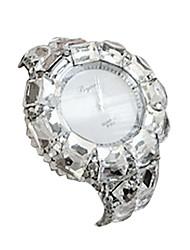 casuais moda liga relógio de quartzo banda pulseira feminina