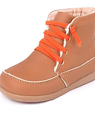 Unisex Boots Winter Comfort Leather Casual Others Black / Coral / Camel