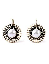 European Style Luxury Gem Earrings Imitation Pearl Daisy Flower Stud Earrings for Women Fashion Jewelry
