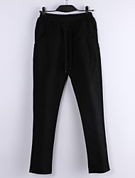 Women's Solid Green/Black/Beige Haren Pants, Casual Low Rise