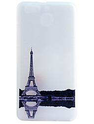 Pour Coque Huawei P9 P9 Lite P8 P8 Lite IMD Coque Coque Arrière Coque Tour Eiffel Flexible PUT pour HuaweiHuawei P9 Huawei P9 Lite Huawei
