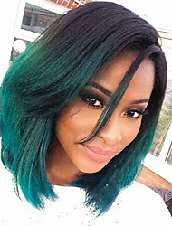 Stylish Women's High Temperature Fiber Natural Looking Green Color Party Wigs