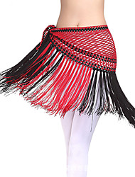 Belly Dance Hip Scarves Women's Performance Elastic Silk-like Satin1 Piece Belly Dance Sleeveless Dropped Skirt