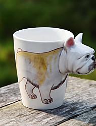 1pc 400ml de banda desenhada 3d animais pintados à mão de café xícara de cerâmica caneca de leite cor aleatória