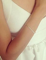 Femme Bracelets de rive Mode Bohême Perlé Fait à la main Perle Alliage Forme de Cercle Bijoux Pour Quotidien Décontracté