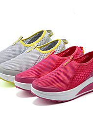 Women's Shoes Tulle Platform Fashion Shoes/ Creepers / Fashion Sneakers Outdoor / Athletic / Casual Red / Gray