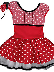 2016 New Kids Girl Minnie Mouse Cosplay Short Sleeve Cotton Clothes Dress,Vestido Princess Tutu Dress with Headband